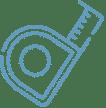 un pictogramme représentant un mètre